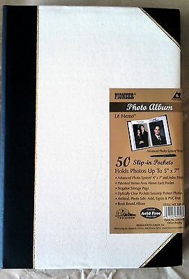 Pioneer Photo Album Ledger LBT57 5x7 50 Pocket Blk/WHITE