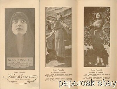 1920's Rosa Ponselle Dramatic Soprano Of Metropolitan Opera Concerts Brochure