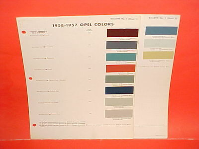 1957 1958 Opel Kapitan Olympia Rekord Sedan Caravan Station Wagon Paint Chips