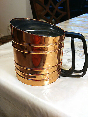 Vintage copper Foley sift-chine triple screen sifter