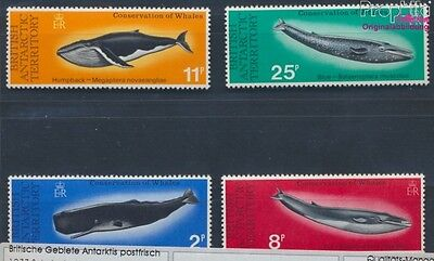 UK Areas Antarctica 64-67 MNH 1977 Protection the Whales (8112351