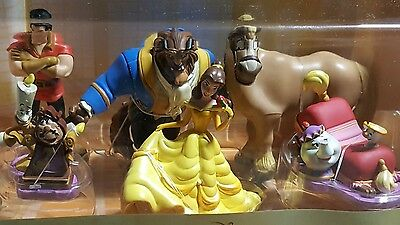 **ONLY $10 !! DISNEY Beauty and the Beast Figurine 6 Piece Play Set Cake Toppers