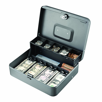 NEW Tiered Cantilever Cash Box Gray 2216194G2