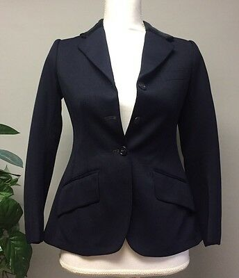 BRITTANY RIDING APPAREL CUSTOM Youth Size Navy Blue Hunt Coat Jacket Foxhunt