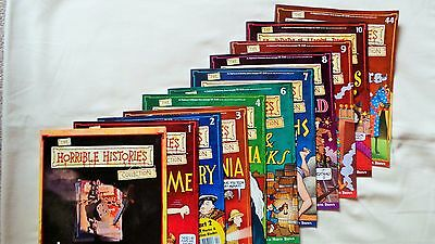 10 Horrible Histories Magazines Odd Numbers (Lot 2)