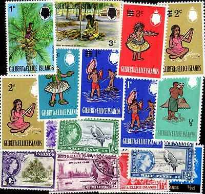 ILES GILBERT - GILBERT ISLANDS collections de 25 à 50 timbres différents