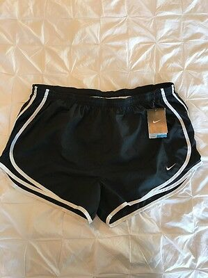 New Womens Nike Running Shorts Running Fit Dri-Fit XL Extra Large Black NWT $28