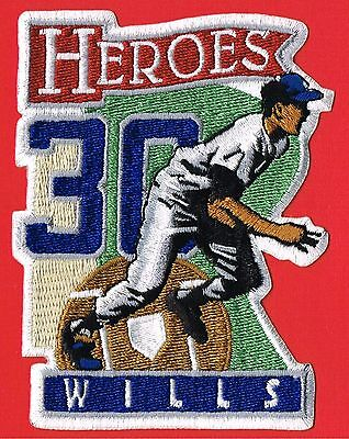 Maury Wills HEROES LA Dodgers Authentic MLB Baseball Patch