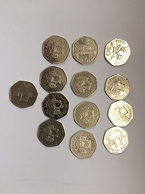 Isle Of Man Guernsey Jersey 50p Pence Coins Collection