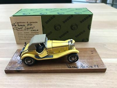 Bosica Alfa Romeo 1750 Sport Zagato factory build yellow 1/43 no amr bbr ferrari