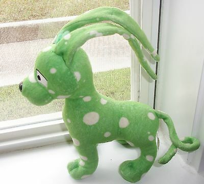 """Neopets Plush GREEN SPECKLED GELERT DOG  6"""" Toy LIMITED EDITION SPOTS FREE SHIP"""