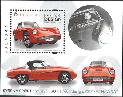 Mint S/S   Design Syrena Sport FSO Cars Automobiles  2016 from Poland