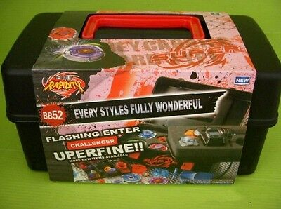 FUSION BEYBLADE Burst WBBA Launcher Booster Accessory Bladers Box Black HOT