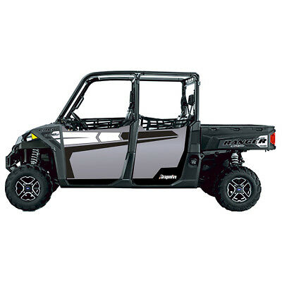 DragonFire Door Graphics Polaris Ranger XP Crew 900 2016-2017 Titanium Matte