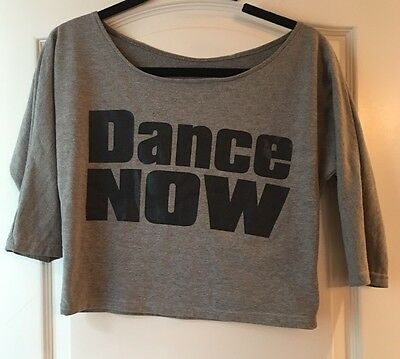 Girls Grey DANCE NOW Graphic Light Dancewear Top Size Youth Large