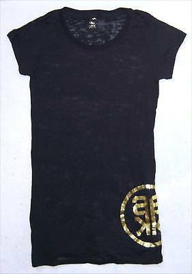 Alicia Keys Gold Ak Girls Long T-Shirt Mini Dress L New