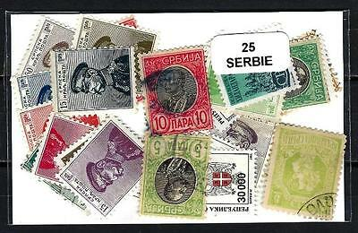 Serbie - Serbia 25 timbres différents