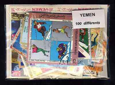 Yemen 100 timbres différents