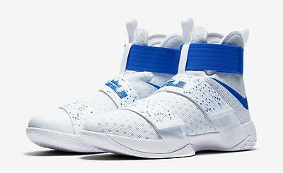 Nike Zoom LeBron Soldier 10 in white/blue Mens UK size 9