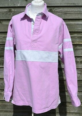 Joules * Pink And White Long Sleeve Deck Shirt * Small * S *