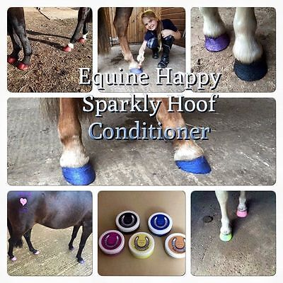 Brand New Equine Happy * Bling Sparkly Hoof Conditioner * Neon Yellow * 50Ml *