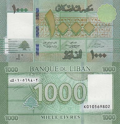 Lebanon 1000 Livres (2016) - New Note/New SSN Style/pNew UNC