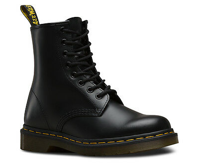 Dr. Martens 1460 Black 8 Eye Classic Smooth Leather Boots with Air Wair Size 11
