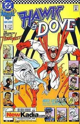 Hawk and Dove (1989 series) Annual #1 in Near Mint condition. FREE bag/board