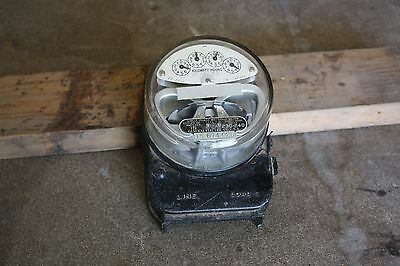 VINTAGE GENERAL ELECTRIC TYPE I-16 SINGLEPHASE WATTHOUR METER c1930's 230+ VOLTS