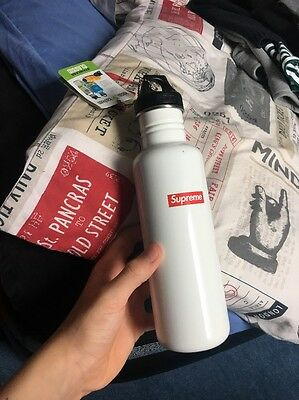 Supreme Klean Kanteen Classic Water Bottle Stainless White SS16