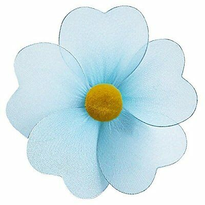 The Butterfly Grove Olivia Flower Decoration 3D Hanging Mesh Nylon Decor, Blue,