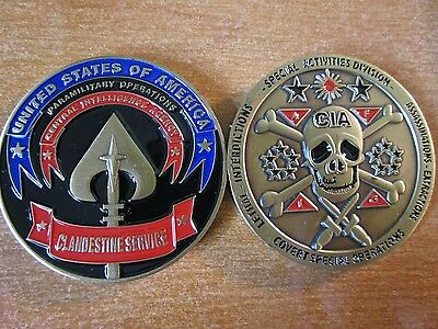 CIA Special Lethal Covert Special OPS Clandestine Service HUMINT Challenge Coin