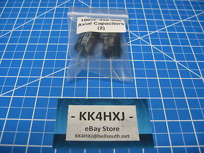100uF 450V Axial Electrolytic Capacitors - 105C 2000Hr -  lot of 2