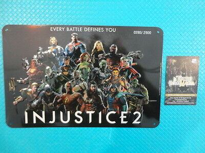 Injustice 2 Metal Plate 03193/21500 Limited edition poster in metallo