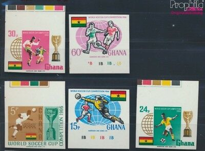 Ghana 269B I-273B I MNH 1966 Football-WM, England `66 (8777075