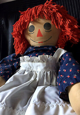 Creepy Dark Vintage Antique Annabelle Raggedy Ann Doll From Haunted Estate