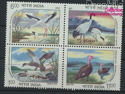 India 1440-1443 block of four unmounted mint / never hinged 1994 Birds (8882717