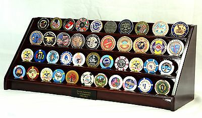 4 Row Military Challenge Coin Display / 48 Casino Chip Display Case Rack Holder
