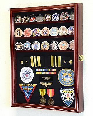 Challenge Coin / Medals / Pins / Badges / Ribbons / Insignia /Combo Display Case
