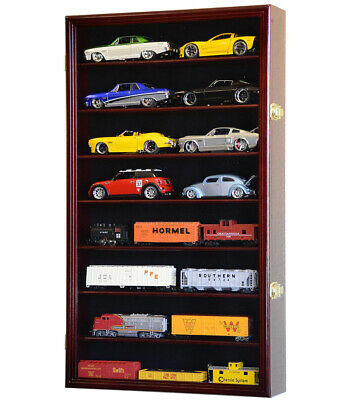 1/24 Scale Diecast Model Car Display Case Rack Holder Holds 16 Die Cast Nascar