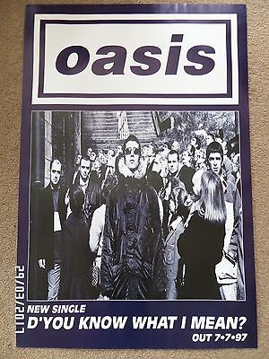 Oasis D'you Know What I Mean? Original 1997 Promo Poster.