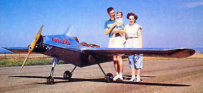 Vintage WEE BEE .02 UC Model Airplane PLANS of World's Smallest Plane + Article
