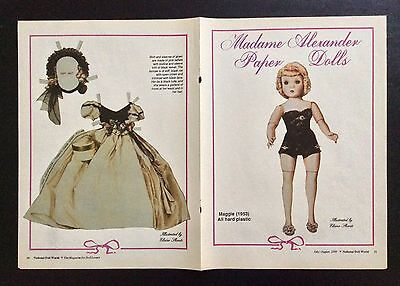 Maggie Madame Alexander Doll Magazine Paper Doll, 1989, National Doll World