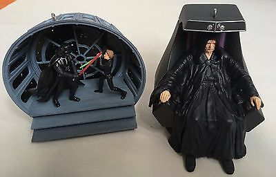Star Wars Retun of the Jedi Ornaments- Final Confrontation And Emperor Palpatine