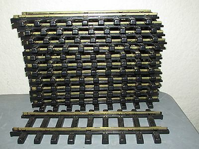 Lot of 12 New Bright G Scale Holiday Express STRAIGHT TRACKS