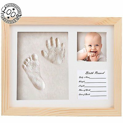 Fanme Baby Handprint and Footprint Frame DIY Clay Mold Babyprints Decorative for