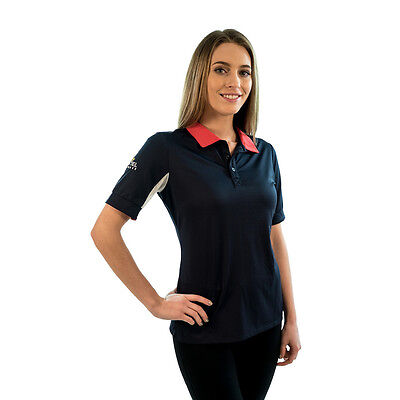 KASTEL Polo Shirt -  Short Sleeve - Navy/Red- Different Sizes