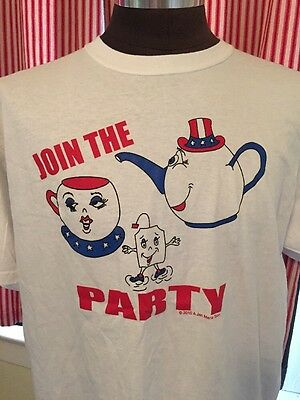 Join The Tea Party 2010 Shirt XL Red White And Blue Republican Right Wing Palin