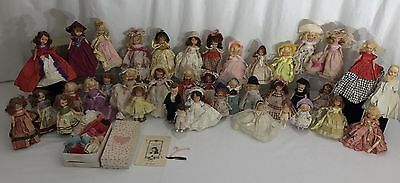 96PC Vintage Nancy Ann Storybook Doll LOT Baby Bride Clothing Hat Bisque Jointed