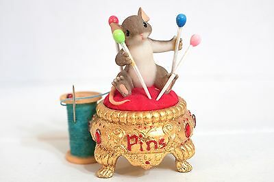 Charming Tails 98/343 Waiting On Pins And Needles  mouse pin cushion thread